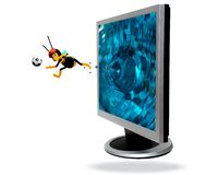 Flat screen computer Royalty Free Stock Images