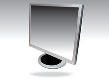 Flat screen computer Stock Photos
