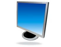 Flat screen computer Stock Image