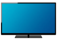 The flat screen. 3d generated picture of a flat screen vector illustration