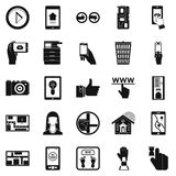 Flat screen icons set, simple style. Flat screen icons set. Simple set of 25 flat screen vector icons for web isolated on white background Royalty Free Stock Photo