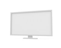 Flat screen isolated on white. 3d screen isolated on white - 3d illustration Royalty Free Stock Images
