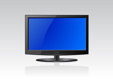 Flat screen LCD. Vector illustration of a flat screen Stock Image