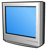 Flat Screen or Television. Plasma flat screen television or monitor stock illustration