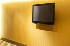 Flat Screen Television on Wall Stock Images