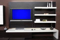 Flat screen tv. New Large flat screen television Royalty Free Stock Photo