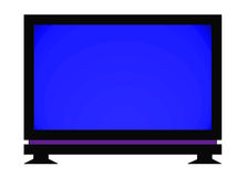 Flat screen tv. Large flat screen television on white background royalty free illustration