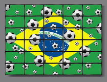 Flat screen tv. Brazil 2014 and lot of flat TV Royalty Free Stock Photography