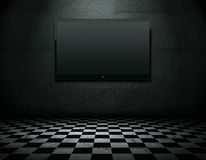 Flat screen TV with clipping path royalty free illustration