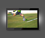 Flat screen tv Royalty Free Stock Image