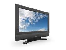 Flat screen TV illustration Stock Photo
