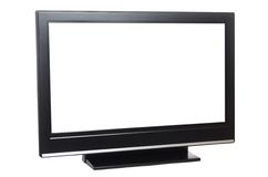 Flat screen tv isolated on white Royalty Free Stock Photo