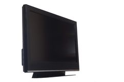 Flat screen tv isolated on white Stock Images