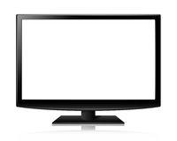Flat screen tv lcd or led realistic illustration Stock Photography