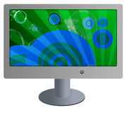 Flat screen tv monitor Royalty Free Stock Photo