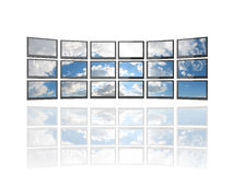 Flat screen tv's Royalty Free Stock Images