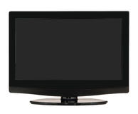 Flat screen TV, television isolated over white Royalty Free Stock Photos