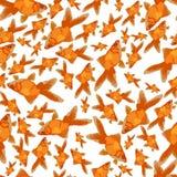 Flat seamless goldfish pattern royalty free illustration