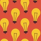Flat Seamless Pattern Business Idea Lamp Stock Photos