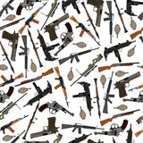 Flat seamless pattern weapons Stock Photography