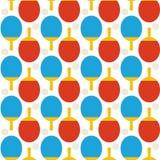 Flat Seamless Sport Tennis Ping Pong Pattern Royalty Free Stock Image