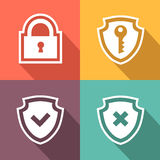 Flat security icons. Vector illustration Stock Photo