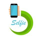 Flat Selfie Icon Vector Illustration Stock Image