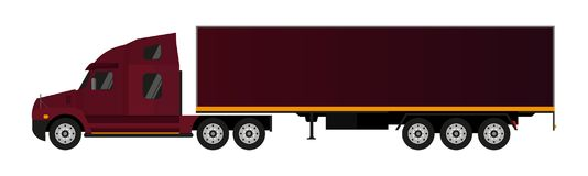 Flat Semi-trailer truck. Vector Illustration. Flat Semi-trailer truck. Vector Illustration stock illustration