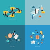 Flat seo business vector mobile concept design Stock Photography