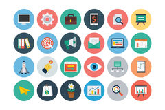 Flat SEO and Marketing Icons 1 Royalty Free Stock Images