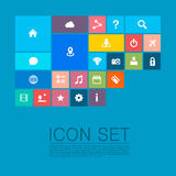 Flat set of icons. Art. Vector illustration Stock Images