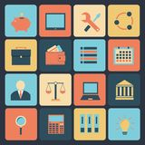 Flat set of modern vector icons . Royalty Free Stock Photography