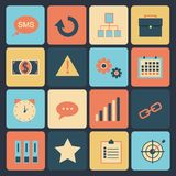 Flat set of modern vector icons . Royalty Free Stock Images