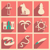 Flat with shadow concept and mobile application. Arabic icons Stock Image