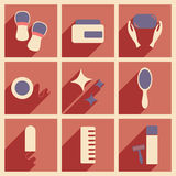 Flat with shadow concept and mobile application Stock Images