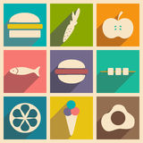 Flat with shadow concept and mobile application Stock Image