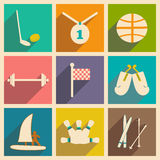 Flat with shadow concept and mobile application. Sports Stock Photos