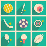 Flat with shadow concept and mobile application Stock Photos