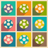 Flat with shadow icon and mobile applacation. Football Royalty Free Stock Image