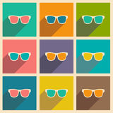 Flat with shadow icon and mobile applacation Royalty Free Stock Image