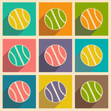 Flat with shadow icon and mobile applacation. Volleyball Royalty Free Stock Image