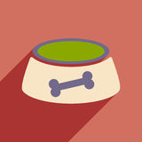 Flat with shadow icon and mobile application dog Stock Photo