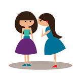 Flat with shadow icon and mobile application. Gossip Stock Images