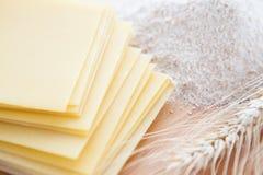 Flat sheets for lasagna Stock Photos