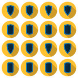 Flat shields vector set Royalty Free Stock Image