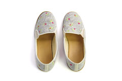 Flat shoes on white background Royalty Free Stock Photos