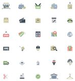 Flat shopping icon set Royalty Free Stock Image