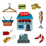 Flat shopping icons for household appliances Stock Image