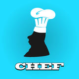 Flat silhouette chef hat. Vector illustration icon Stock Photography