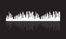 Flat silhouette city design vector Stock Images